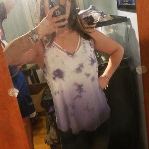Puple, tie-dye, ombre tank top, Mudd